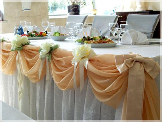 Как сделать скатерть на свадьбу